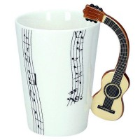 Mug with acoustic guitar handle