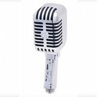 Dušo galvutė retro mikrofonas