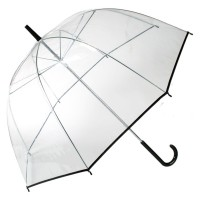 Transparent big umbrella (Black trim)