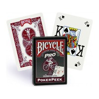 Bicycle Pro Poker Peek pokerio kortos (Raudonos)