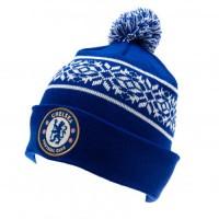 Chelsea F.C. žieminė kepurė su bumbulu (Mėlyna)