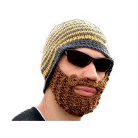 Beard knitted hat