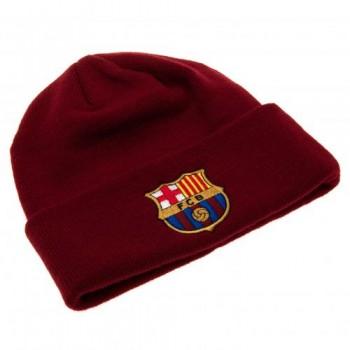 F.C. Barcelona atlenkta žieminė kepurė (Bordo)