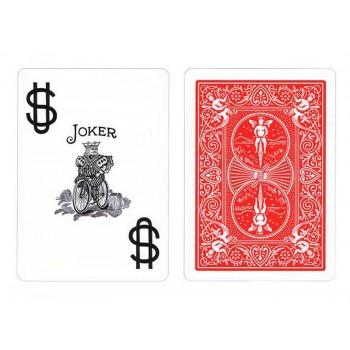 Bicycle Prestige Jumbo pokerio kortos (Raudonos)