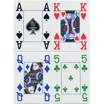 Copag 4 Colour pokerio kortos (Raudonos)