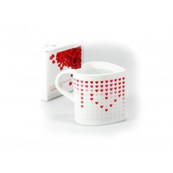 Širdies formos puodelis