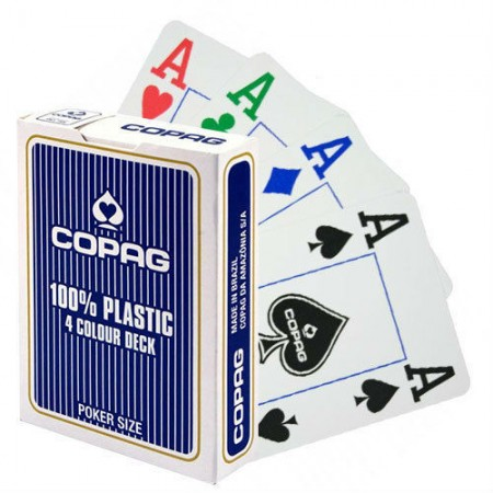 Copag 4 Colour pokerio kortos (Mėlynos)