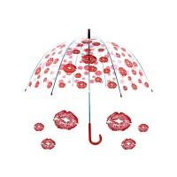 Permatomas didelis skėtis ''Bučinukai''