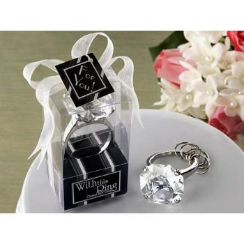 Raktų pakabukas - deimantinis žiedas