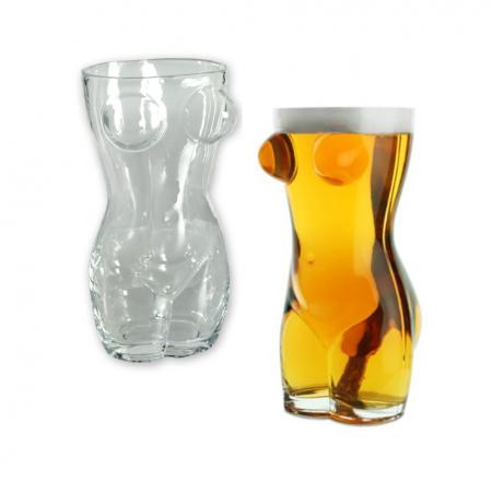 Moters kūno formos alaus bokalas (Mažas)