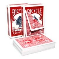 Bicycle Rider Double Back kortos (Raudonos)