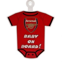 Arsenal F.C. pakabinamas ''Baby on board'' ženklas