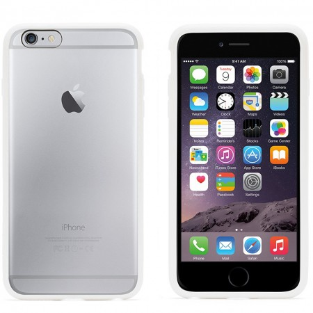 Griffin Reveal telefono dėklas Apple iPhone 6 Plus telefonui (Baltas)