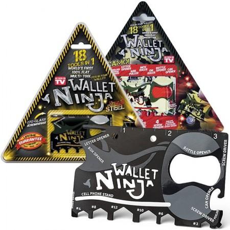 """Plieninė įrankių kortelė """"Wallet Ninja"""""""