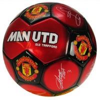 Manchester United F.C. futbolo kamuolys (Autografai)