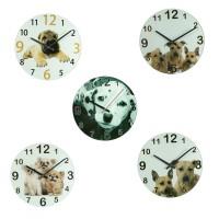 Sieninis laikrodis su šunimis