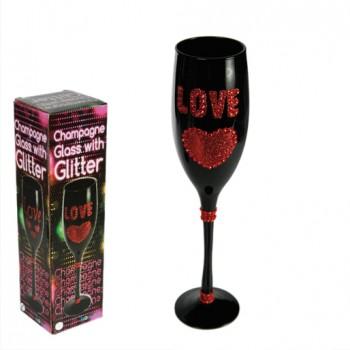 """Dekoruotos šampano taurės vakarėliui ,,Love"""""""