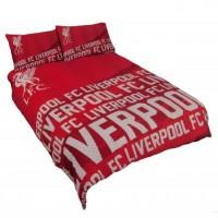 Liverpool F.C. dvigulės, dvipusės patalynės komplektas (su užrašu)