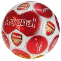 Arsenal F.C. futbolo kamuolys (Baltas-raudonas su parašais)