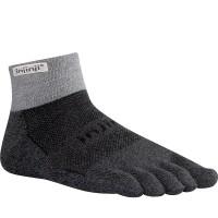 Injinji Trail 2.0 Midweight Mini-Crew penkių pirštų kojinės (Pilkos)