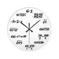 "Laikrodis ""Matematika"" (Baltas)"