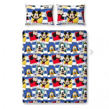 """DISNEY """"Mickey Mouse """" dvigulės patalynės komplektas (Polaroidinės nuotraukos)"""