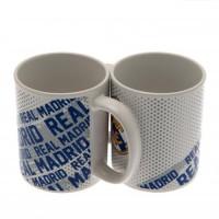 Real Madrid C.F. puodelis (Baltas su logotipais)