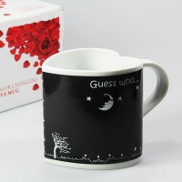Heart shape mug (Black)