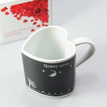 Širdies formos puodelis (Juodas)