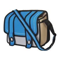 3D komiksų stiliaus krepšys (Mėlynas)
