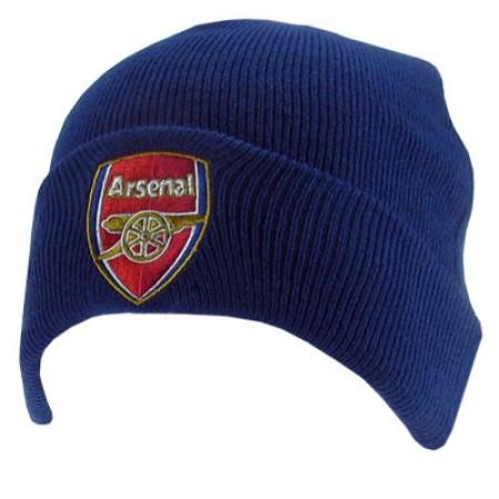 Arsenal F.C. atlenkta žieminė kepurė (Mėlyna)