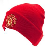 Manchester United F.C. atlenkta žieminė kepurė (Raudona)