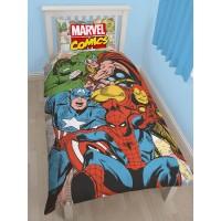 """Marvel komiksų """"Komiksų superherojai"""" dvipusis patalynės komplektas (Klasikinis komiksas)"""