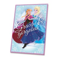 "DISNEY ""Frozen"" shield fleece blanket (Sisters' Dance)"