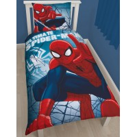 Spiderman Wall Crawler Cotton Single Duvet Cover Set