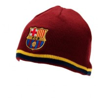 F.C. Barcelona žieminė kepurė (Dryžuotu krašteliu)