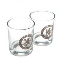 Chelsea F.C. dviejų viskio stiklinių rinkinys