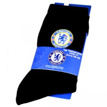 Chelsea F.C. kojinės (Termo, juodos)