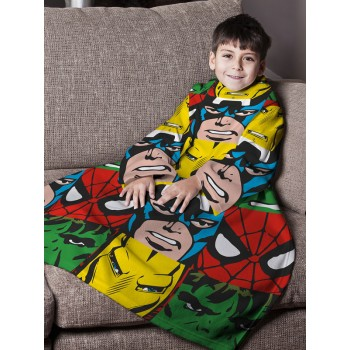"""Marvel komiksų """"Justice"""" antklodė su rankovėmis"""