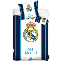 Real Madrid C.F. duvet set (Blue Striped)