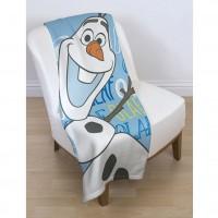 "DISNEY ""Ledo šalis"" antklodė su besmegeniu Olafu (Mėlyna)"