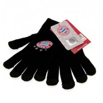 F.C. Bayern Munich vaikiškos žieminės pirštinės (Juodos)