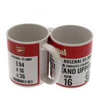 Arsenal F.C. puodelis (Baltas su logotipu)