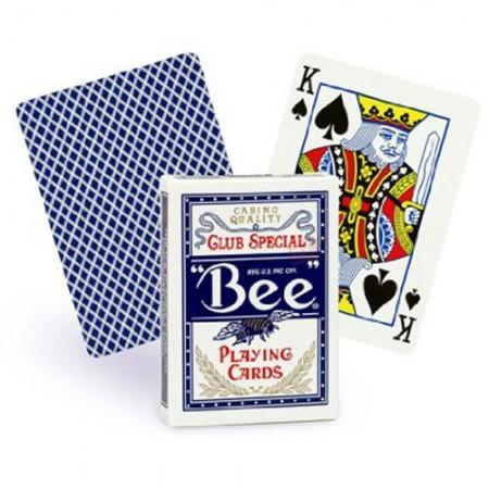 Bee Standard pokerio kortos (Mėlynos)