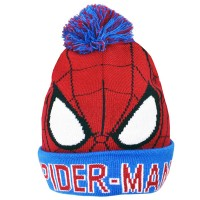 ''Spiderman'' vaikiška žieminė kepurė su bumbulu