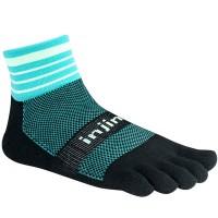 Injinji Trail 2.0 Midweight Mini-Crew penkių pirštų kojinės (Mėta)