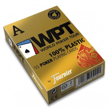 Fournier WPT Gold Edition pokerio kortos (Raudonos)