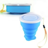 Collapsible outdoor travel cup