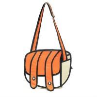 3D komiksų stiliaus krepšys (Oranžinis)