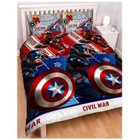 """Captain America Civil War"" dvipusis dvigulės patalynės komplektas"
